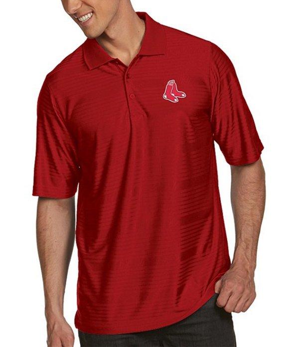 アンティグア メンズ シャツ トップス MLB Illusion Short-Sleeve Polo Shirt Boston Red Sox Dark Red