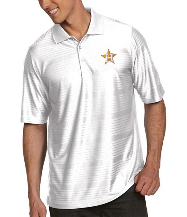 アンティグア メンズ シャツ トップス MLB Illusion Short-Sleeve Polo Shirt Houston Astros White