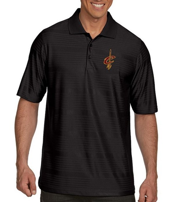アンティグア メンズ シャツ トップス NBA Illusion Short-Sleeve Polo Shirt Cleveland Cavaliers Black