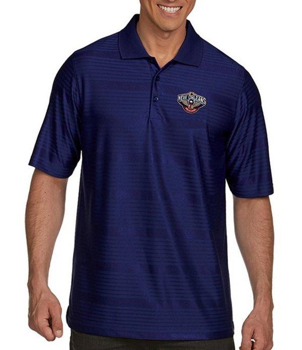 アンティグア メンズ シャツ トップス NBA Illusion Short-Sleeve Polo Shirt New Orleans Pelicans Navy