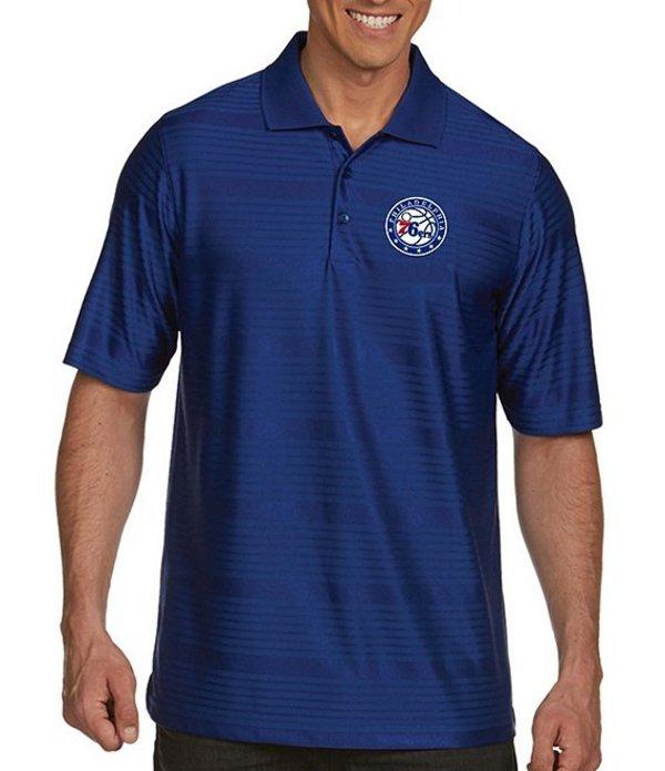 アンティグア メンズ シャツ トップス NBA Illusion Short-Sleeve Polo Shirt Philadelphia 76ers Dark Royal
