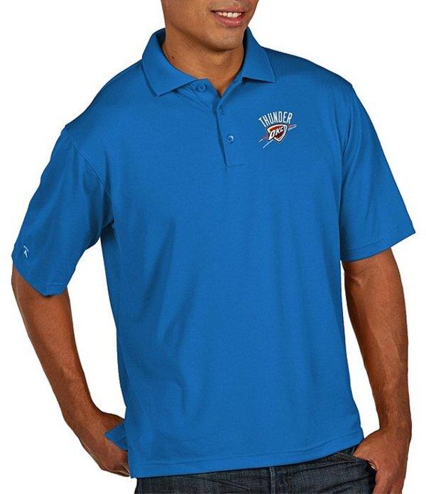 アンティグア メンズ シャツ トップス NBA Pique Xtra-Lite Short-Sleeve Polo Shirt Oklahoma City Thunder Bright Blue
