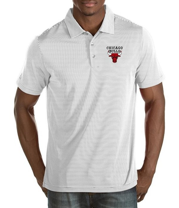 アンティグア メンズ シャツ トップス NBA Quest Short-Sleeve Polo Shirt Chicago Bulls White