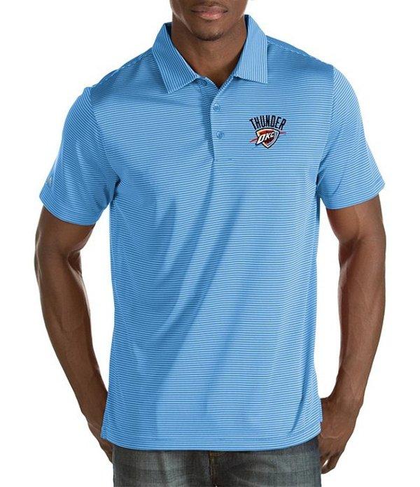 アンティグア メンズ シャツ トップス NBA Quest Short-Sleeve Polo Shirt Oklahoma City Thunder Columbia Blue
