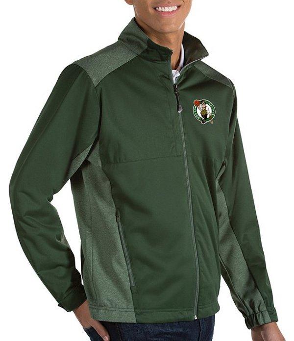 アンティグア メンズ ジャケット・ブルゾン アウター NBA Revolve Full-Zip Waterproof Jacket Boston Celtics Dark Pine