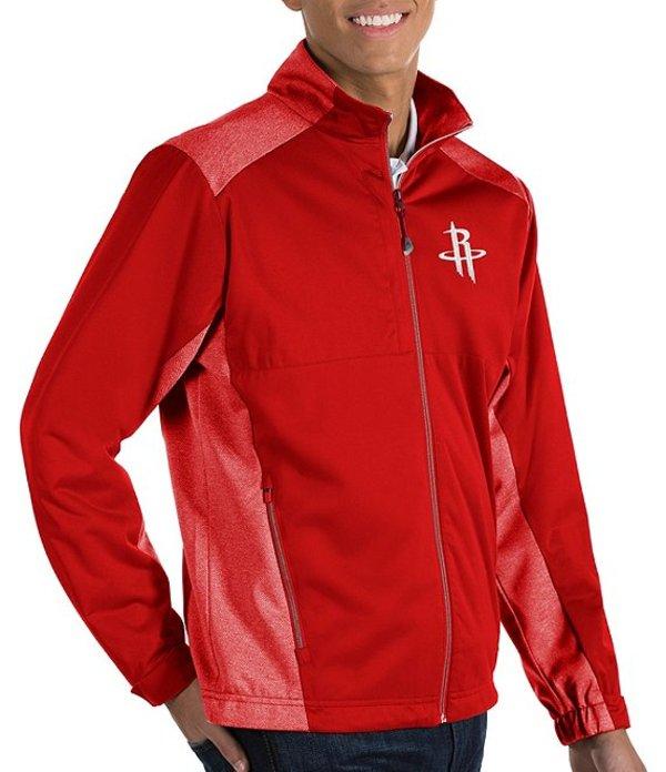 アンティグア メンズ ジャケット・ブルゾン アウター NBA Revolve Full-Zip Waterproof Jacket Houston Rockets Dark Red