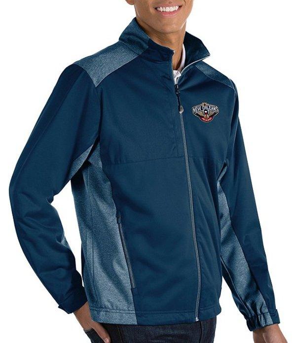 アンティグア メンズ ジャケット・ブルゾン アウター NBA Revolve Full-Zip Waterproof Jacket New Orleans Pelicans Navy