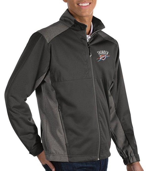 アンティグア メンズ ジャケット・ブルゾン アウター NBA Revolve Full-Zip Waterproof Jacket Oklahoma City Thunder Black