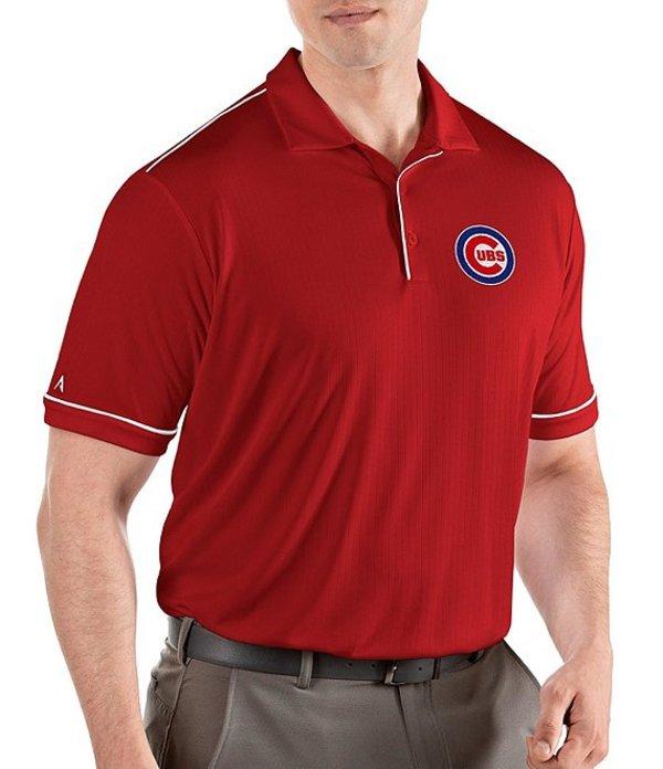 アンティグア メンズ シャツ トップス MLB Salute Short-Sleeve Polo Shirt Chicago Cubs Dark Red