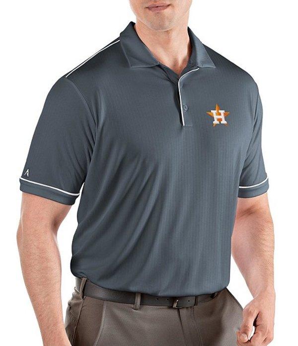 アンティグア メンズ シャツ トップス MLB Salute Short-Sleeve Polo Shirt Houston Astros Steel