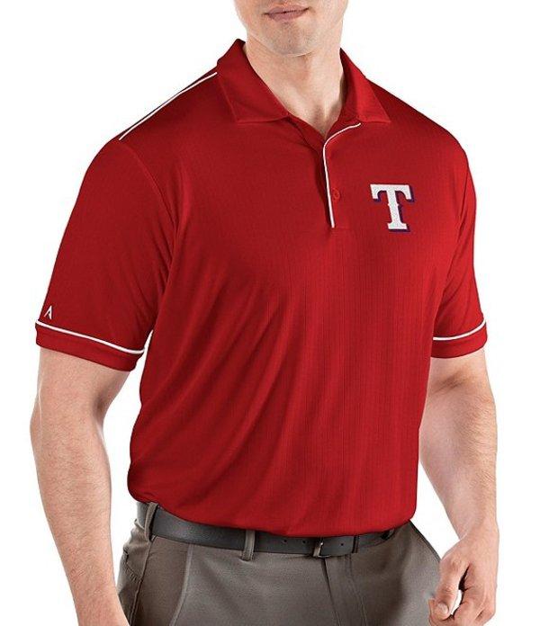 アンティグア メンズ シャツ トップス MLB Salute Short-Sleeve Polo Shirt Texas Rangers Steel