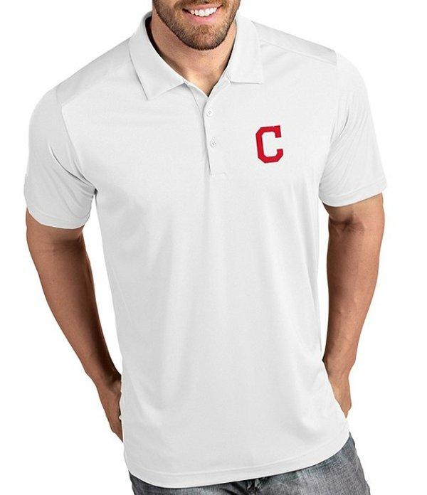 アンティグア メンズ シャツ トップス MLB Tribute Short-Sleeve Polo Shirt Cleveland Indians White