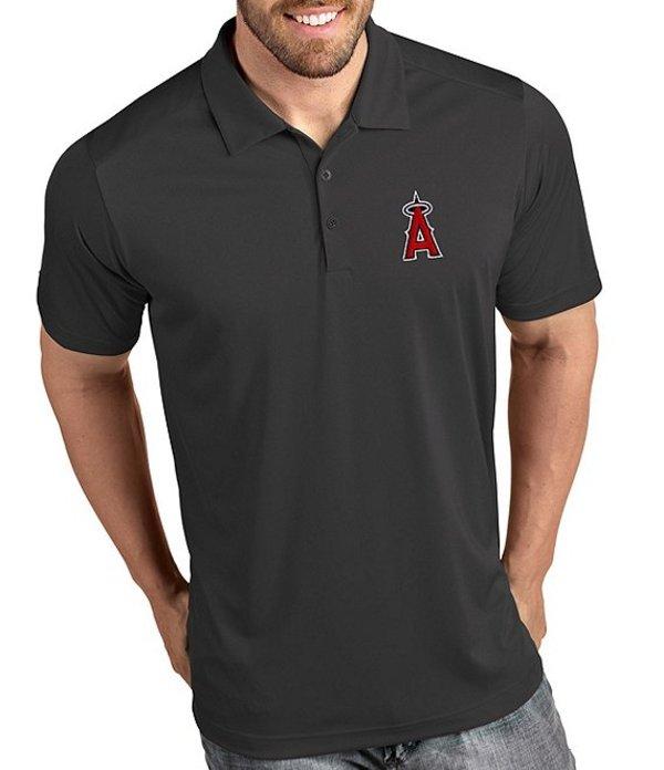 アンティグア メンズ シャツ トップス MLB Tribute Short-Sleeve Polo Shirt Los Angeles Angels Smoke