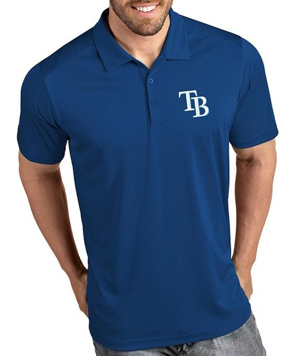 アンティグア メンズ シャツ トップス MLB Tribute Short-Sleeve Polo Shirt Tampa Bay Rays Dark Royal
