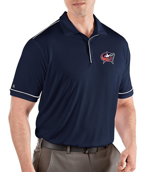 アンティグア メンズ シャツ トップス NHL Salute Short-Sleeve Polo Shirt Columbus Blue Jacket Navy