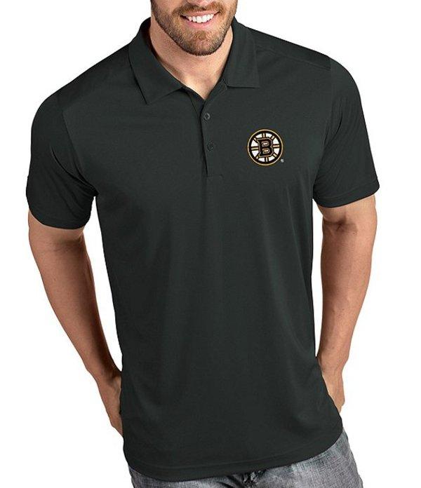 アンティグア メンズ シャツ トップス NHL Tribute Short-Sleeve Polo Shirt Boston Bruins Smoke