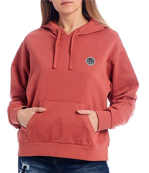 送料無料 評価 サイズ交換無料 リップカール レディース アウター パーカー スウェット 選択 Surfers Pink Fleece Pullover Rose Hoodie Original