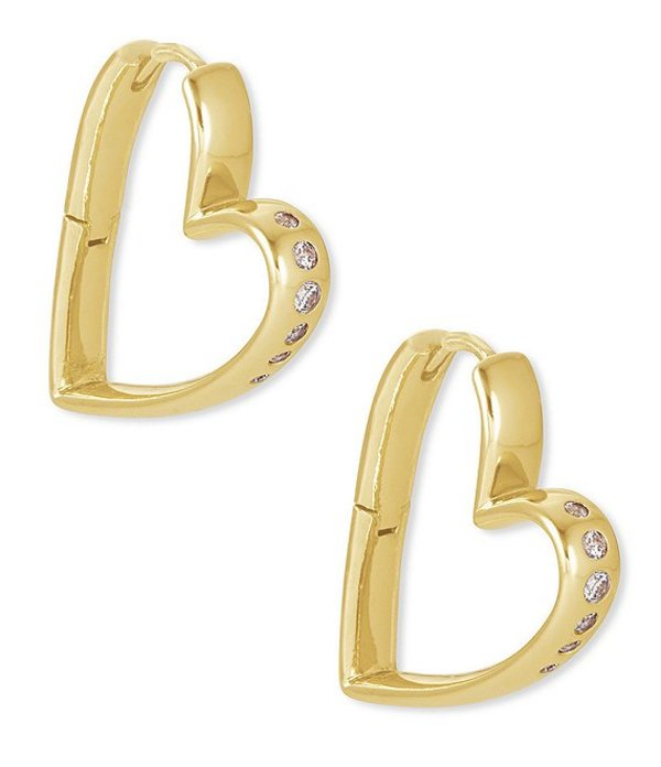 送料無料 サイズ交換無料 ケンドラスコット レディース 超歓迎された アクセサリー ピアス イヤリング Hoop 新着セール Earrings Small Gold 14k Ansley