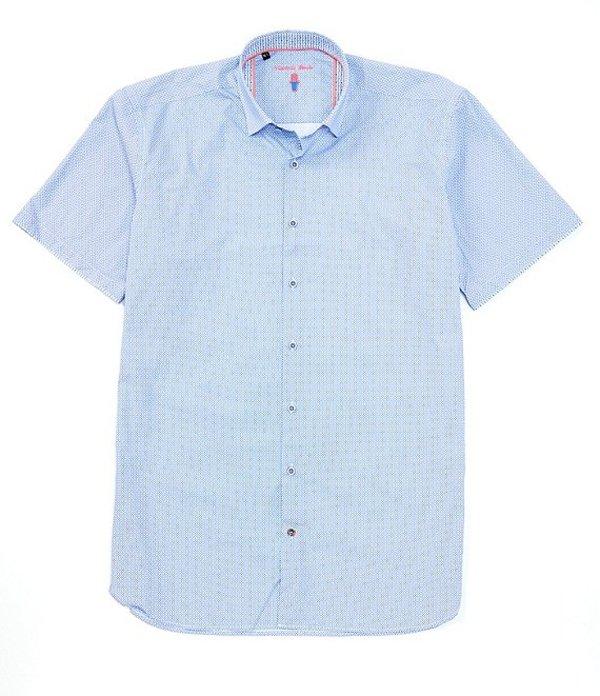 送料無料 サイズ交換無料 ビスコッティ メンズ トップス シャツ Navy 数量限定 Big Print Shirt Scale 代引き不可 Tall Small Woven Short-Sleeve
