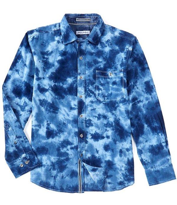 送料無料 サイズ交換無料 トッミーバハマ メンズ トップス 5☆大好評 豪華な シャツ Silvery Shirt Cord Woven Long-Sleeve Mai-Tai Dye Blue