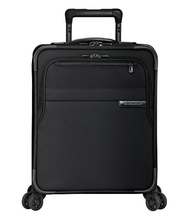 ブリグスアンドライリー メンズ スーツケース バッグ Baseline Carry-On Commuter Expandable Compression Spinner Black