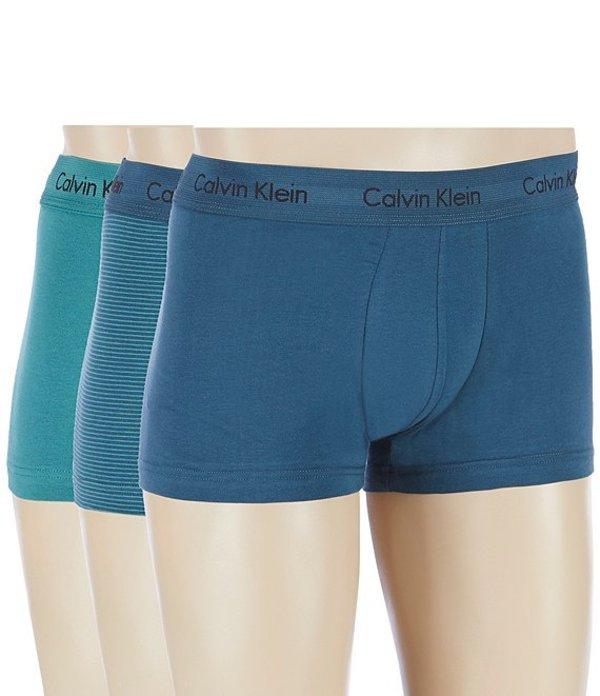カルバンクライン メンズ ボクサーパンツ アンダーウェア Cotton Stretch 3-Pack Low-Rise Trunks KFB Rale MAJ