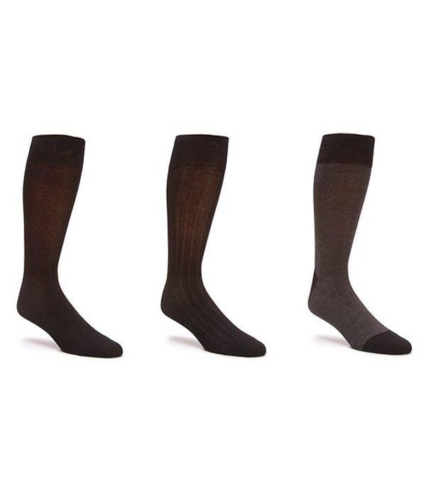 コールハーン メンズ カジュアルパンツ ボトムス Crew Dress Socks 3-Pack Black