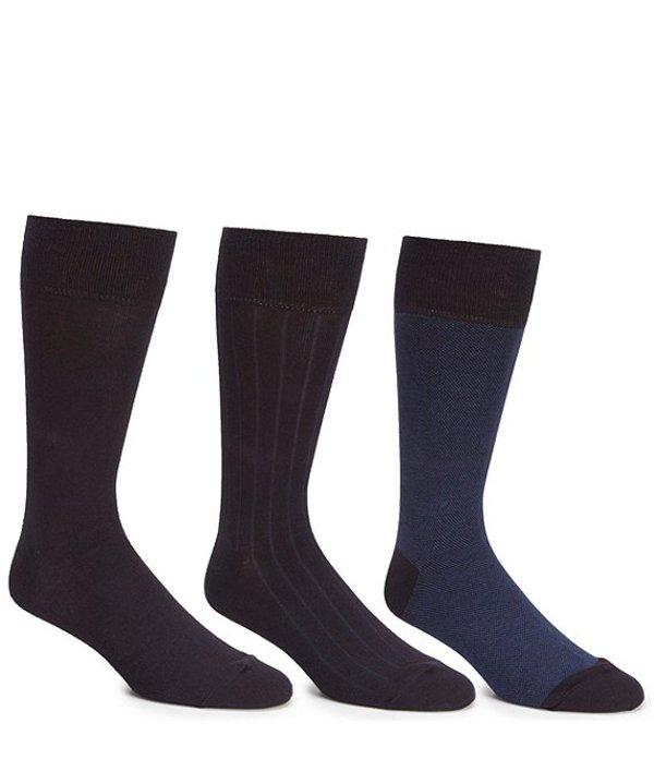 コールハーン メンズ カジュアルパンツ ボトムス Crew Dress Socks 3-Pack Navy
