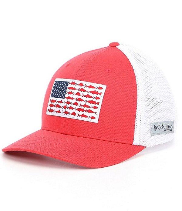 コロンビア メンズ 帽子 アクセサリー PFG Flag Mesh Cap Sunset Red/White