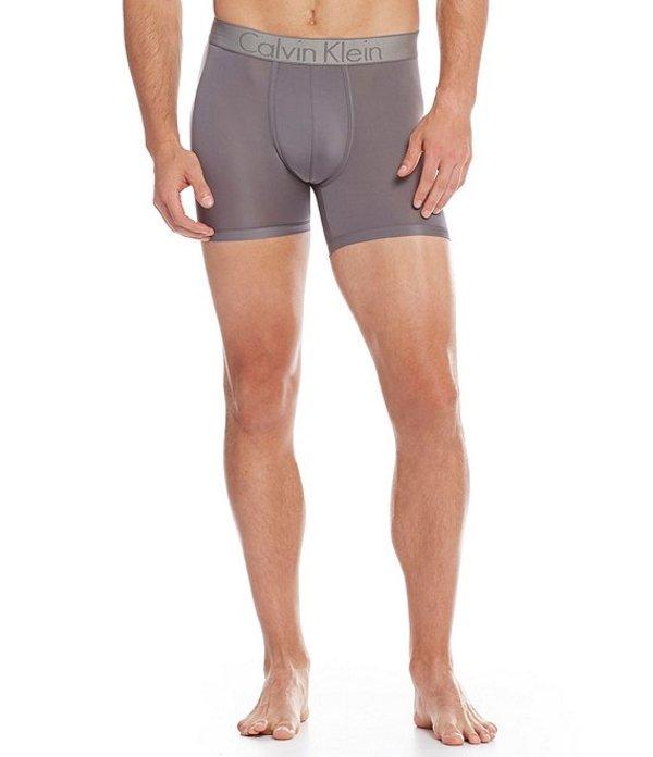 カルバンクライン メンズ ボクサーパンツ アンダーウェア Customized Stretch Boxer Briefs Grey Sky