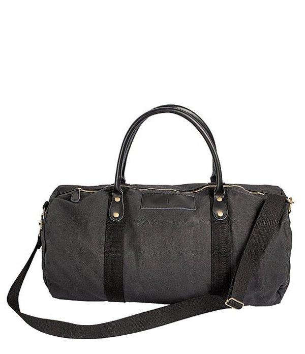 キャシーズ コンセプツ メンズ ボストンバッグ バッグ Initial Canvas & Leather Black Duffel Bag I