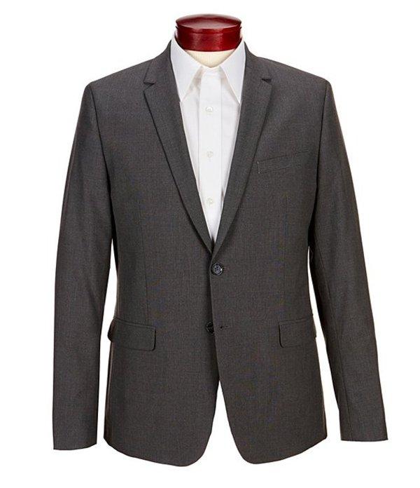 カルバンクライン メンズ ジャケット・ブルゾン アウター Slim-Fit End-On-End Bi-Stretch Suit Separates Blazer Cinder Block