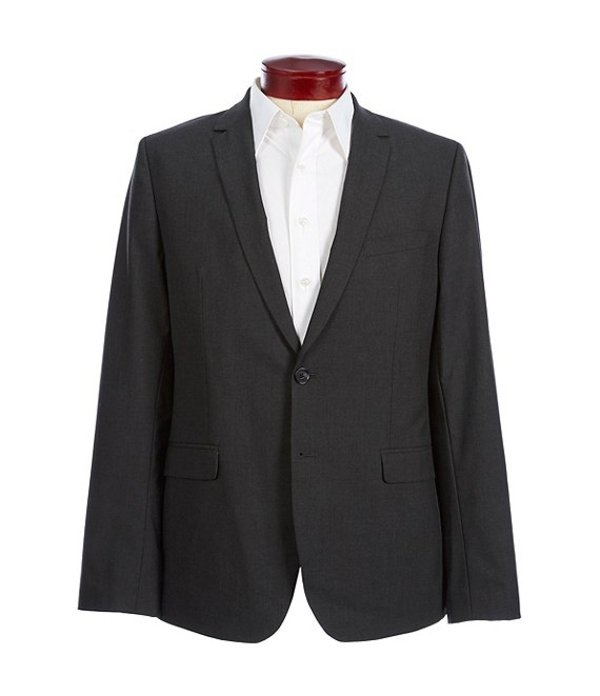 カルバンクライン メンズ ジャケット・ブルゾン アウター Slim-Fit End-On-End Bi-Stretch Suit Separates Blazer Iron Gate