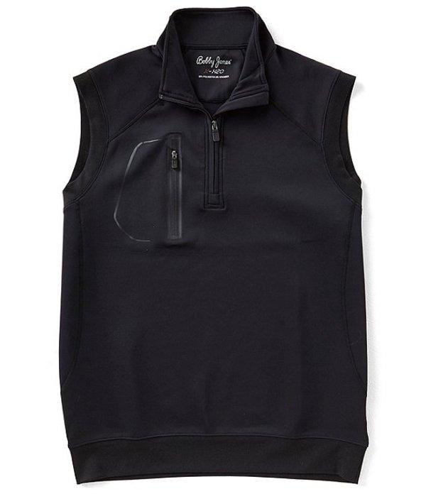 ボビージョーンズ メンズ ジャケット・ブルゾン アウター Crawford Quarter Zip Water Repellent Vest Black