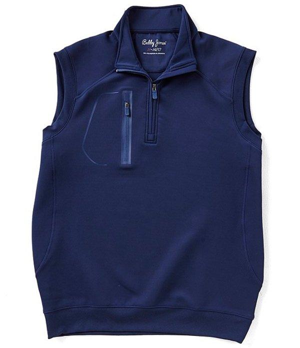 ボビージョーンズ メンズ ジャケット・ブルゾン アウター Crawford Quarter Zip Water Repellent Vest Summer Navy
