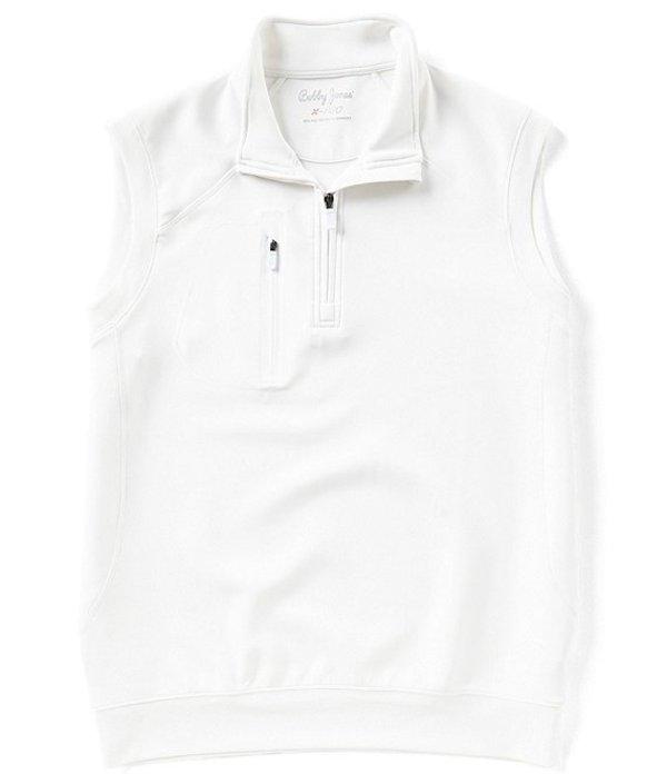 ボビージョーンズ メンズ ジャケット・ブルゾン アウター Crawford Quarter Zip Water Repellent Vest White