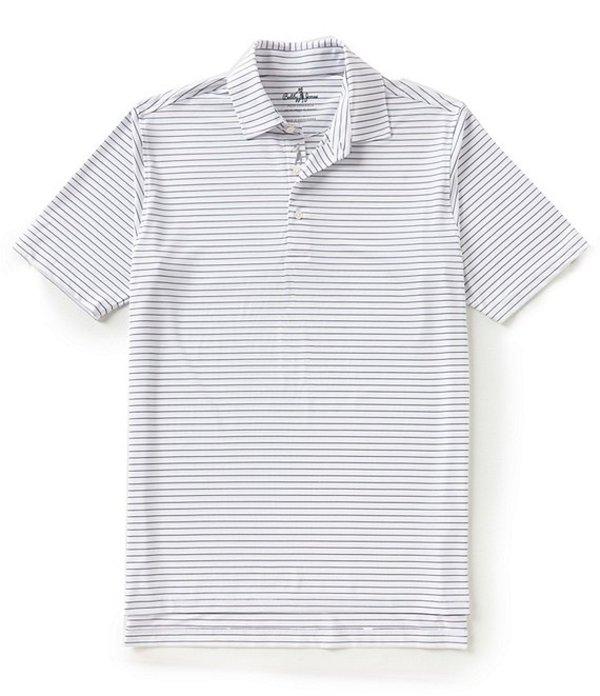 ボビージョーンズ メンズ シャツ トップス Golf Performance Poly Line Stripe Polo White