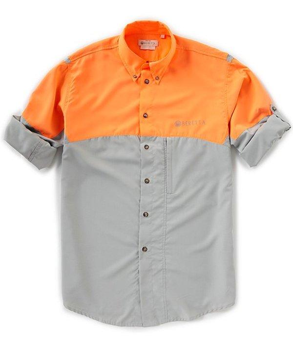 ベレッタ メンズ シャツ トップス Color Block TM Tech Long-Sleeve Woven Shirt Grey/Blaze