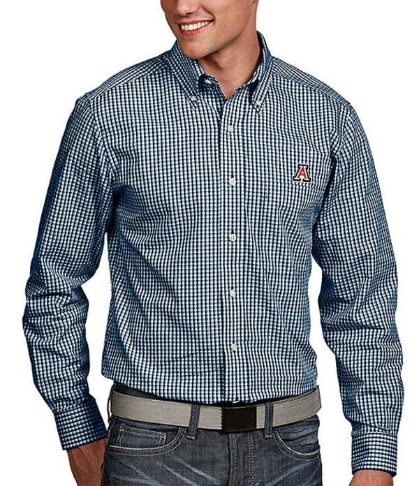 アンティグア メンズ シャツ トップス NCAA Associate Long-Sleeve Woven Shirt Arizona Wildcats
