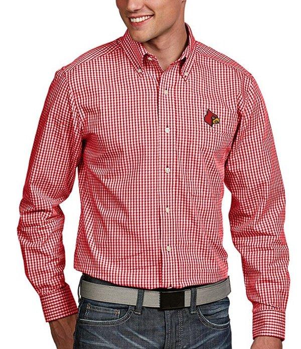 アンティグア メンズ シャツ トップス NCAA Associate Long-Sleeve Woven Shirt Louisville Cardinals