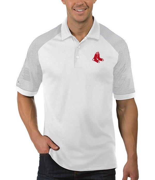 アンティグア メンズ シャツ トップス MLB Engage Short-Sleeve Polo Shirt Boston Red Sox White