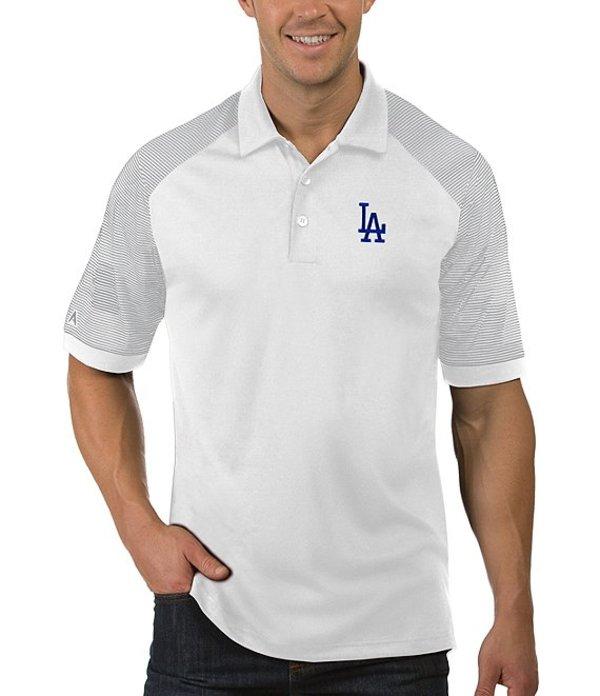 アンティグア メンズ シャツ トップス MLB Engage Short-Sleeve Polo Shirt Dodgers White