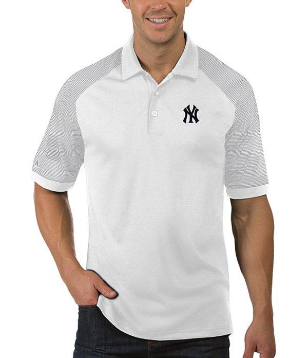 アンティグア メンズ シャツ トップス MLB Engage Short-Sleeve Polo Shirt Yankees White