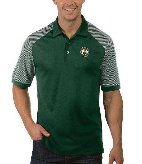 アンティグア メンズ シャツ トップス NBA Engage Short-Sleeve Polo Shirt Boston Celtics Dark Pine