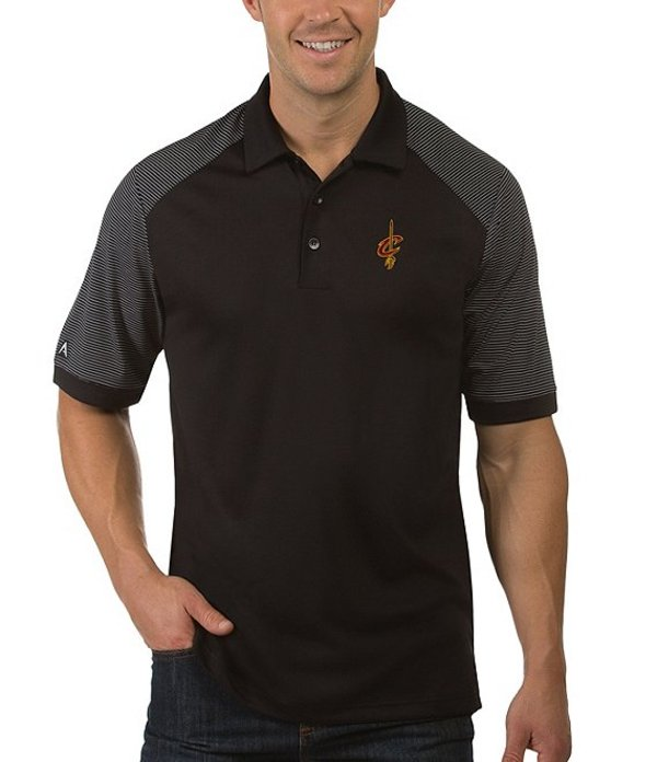 アンティグア メンズ シャツ トップス NBA Engage Short-Sleeve Polo Shirt Cleveland Cavaliers Black