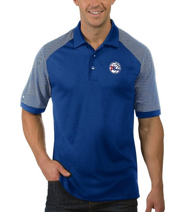 アンティグア メンズ シャツ トップス NBA Engage Short-Sleeve Polo Shirt Philadelphia 76ers Dark Royal
