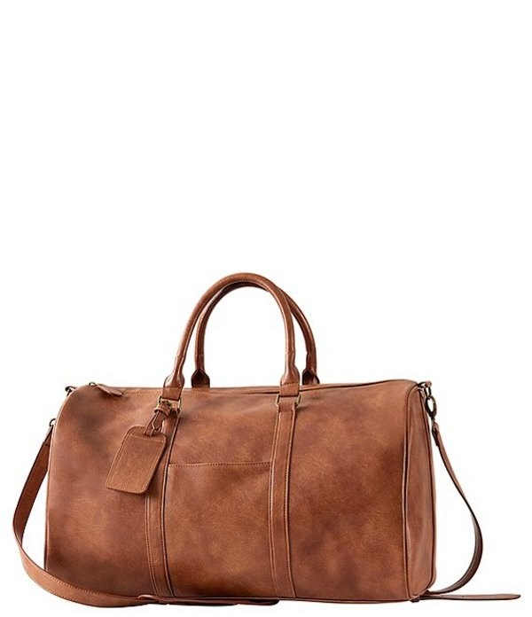 キャシーズ コンセプツ メンズ ボストンバッグ バッグ Men's Vegan Leather Transport Duffel Brown