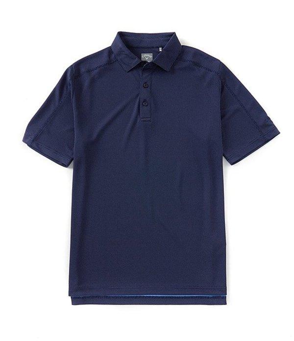 キャラウェイ メンズ シャツ トップス Golf Big & Tall Opti-Dri Jacquard Short-Sleeve Polo Shirt Medieval Blue