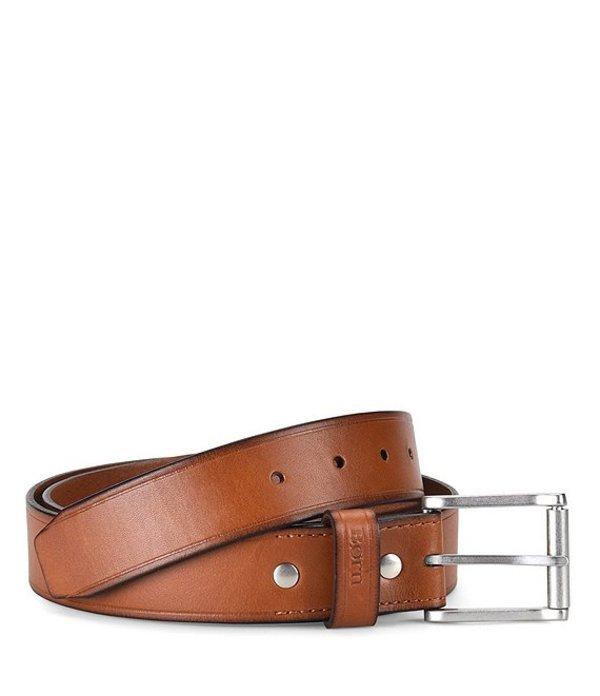 ボーン メンズ カジュアルパンツ ボトムス Men's Leather Roller Buckle Belt Tan