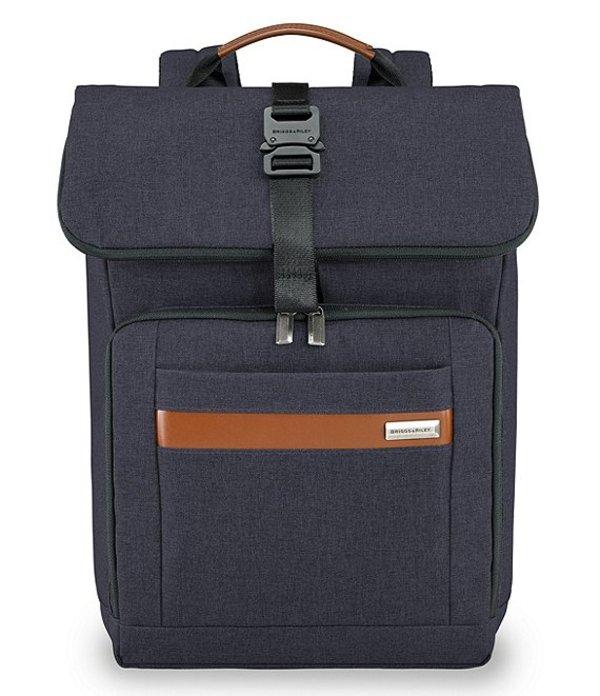 ブリグスアンドライリー メンズ スーツケース バッグ Kinzie Street Medium Foldover Backpack Navy